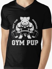 Not the average GYM PUP Mens V-Neck T-Shirt