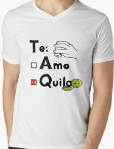 tequila with salt and lime Mens V-Neck T-Shirt