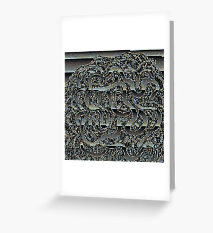 Chrome Glitch Greeting Card
