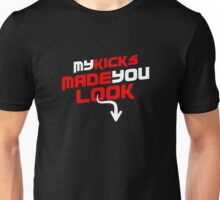 Kicks Made You Look Bred Unisex T-Shirt