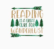Reading is a Great Cure for Wanderlust (Green/Brown) Unisex T-Shirt