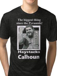 Haystacks Calhoun Classic Wrestling Tri-blend T-Shirt