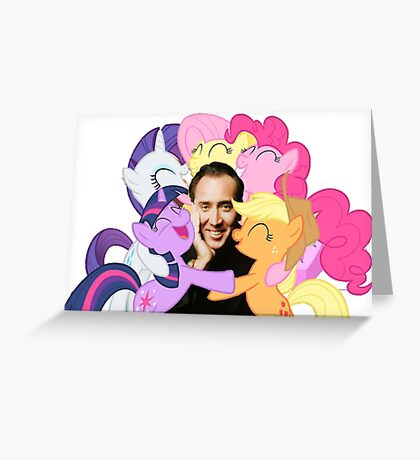 Nic and His Girls Greeting Card