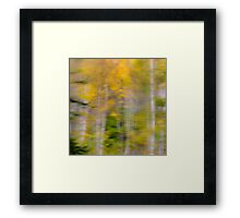 Vibrant Trees 1 - Abstract Framed Print