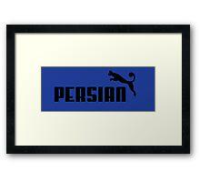 Persian - Black #1 Framed Print