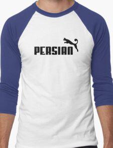Persian - Black #1 Men's Baseball ¾ T-Shirt