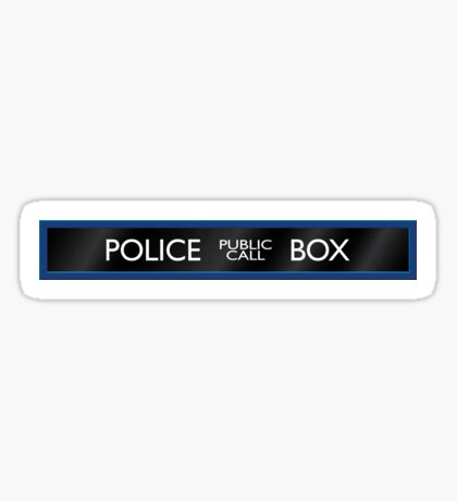 Police Box Sticker
