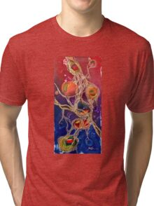 Somewhere in My DNA,abstract Alma Lee Tri-blend T-Shirt