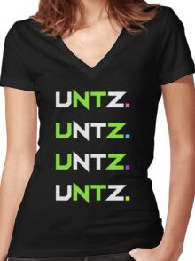 untz. black. Women's Fitted V-Neck T-Shirt