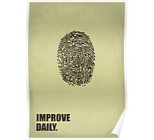 Improve Daily - Business Quotes Poster Poster