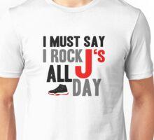 Rock JS All Day Jordan Breds Unisex T-Shirt