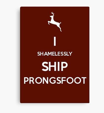 Shamelessly Ship Prongsfoot Canvas Print