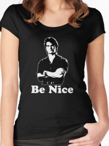 Be Nice Women's Fitted Scoop T-Shirt