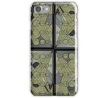 Circles and lines iPhone Case/Skin