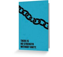 No Strength Without Unity - Business Quotes Poster Greeting Card