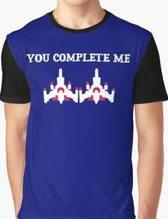You Complete Me Galaga Video Game Graphic T-Shirt