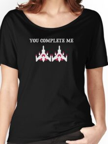 You Complete Me Galaga Video Game Women's Relaxed Fit T-Shirt