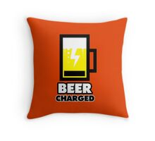 BEER charged Throw Pillow