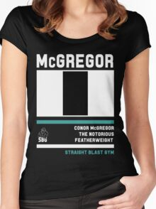 Conor McGregor - Fight Camp Collection (check artist notes for limited edition link)  Women's Fitted Scoop T-Shirt
