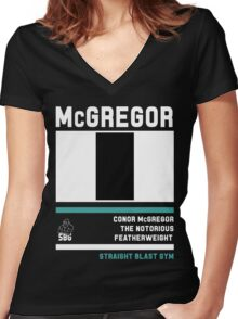 Conor McGregor - Fight Camp Collection (check artist notes for limited edition link)  Women's Fitted V-Neck T-Shirt
