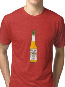Corona and lime Tri-blend T-Shirt