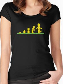 Lego Robot Evolutions Women's Fitted Scoop T-Shirt