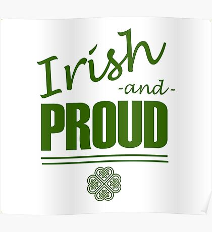 Irish and Proud Poster