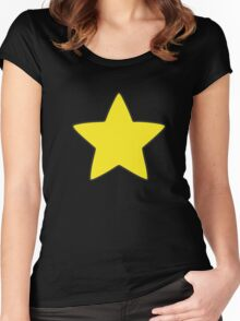 Steve Universe Yellow Star Women's Fitted Scoop T-Shirt