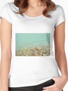 Turquoise Shore Women's Fitted Scoop T-Shirt