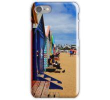 Brighton Beach Huts Vic iPhone Case/Skin