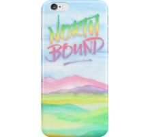 North Bound Pink Purple Mountains Watercolor Painting iPhone Case/Skin