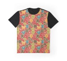 Robots on red. Graphic T-Shirt