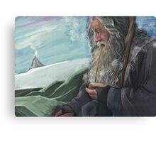 Gandalf the Grey and the mountain  Canvas Print