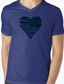 0142 Cool Black Tiger Mens V-Neck T-Shirt