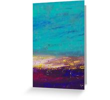 Seascape In Blue & Purple Greeting Card