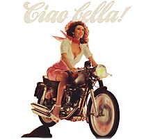 Ciao Bella! (Transparent background) Photographic Print