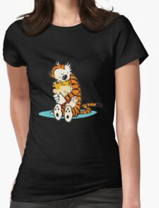 Calvin and hobbes i like moment Womens Fitted T-Shirt