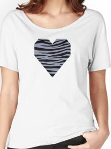 0143 Cool Grey or Gray-Blue Tiger Women's Relaxed Fit T-Shirt