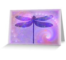 Cosmic Dragonfly Greeting Card
