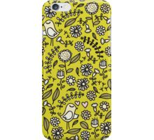 Birds on green. iPhone Case/Skin