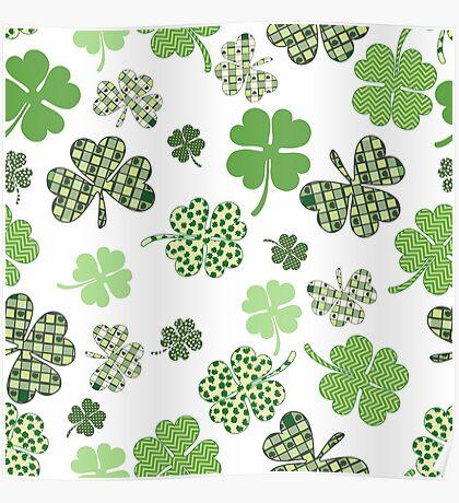 St. Patricks Day Shamrocks Poster