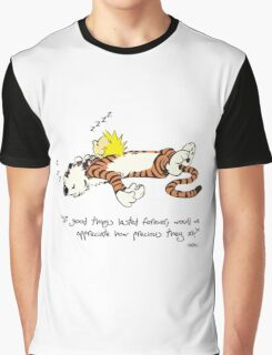 Calvin And Hobbes Quote sleep Graphic T-Shirt