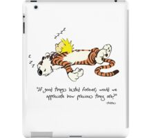 Calvin And Hobbes Quote sleep iPad Case/Skin