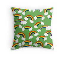 Super Cute Rainbows and Clouds Throw Pillow