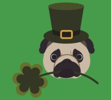 St. Patrick's Day Pug One Piece - Short Sleeve