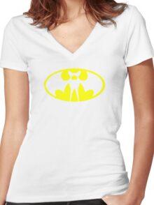 Zubat Pokemon Batman Women's Fitted V-Neck T-Shirt
