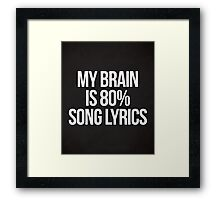 Song Lyrics Funny Quote Framed Print