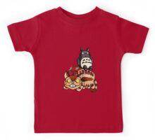 Catbus and Totoro - A Fun Ride Kids Tee