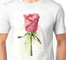 Rose Watercolor Painting Unisex T-Shirt