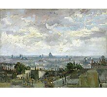 1886-Vincent van Gogh-View of Paris Photographic Print